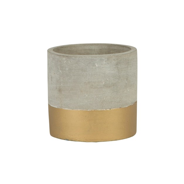 Tuva Gold Dip Cement Mini Planter