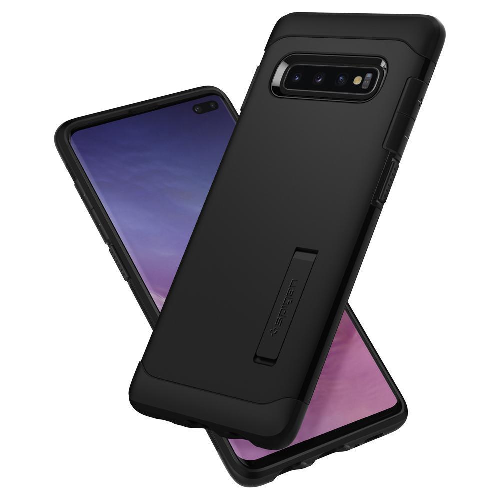 Spigen Galaxy S10+ Slim Armor Case - Black image