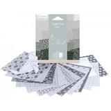 Origami Paper 120x120 - Black & White Sea