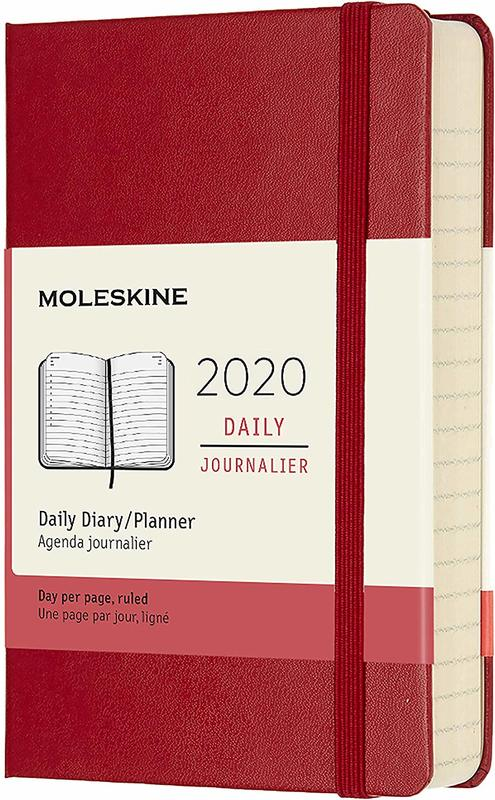 Moleskine: 2020 Diary Pocket Hard Cover 12 Month Daily - Scarlet Red