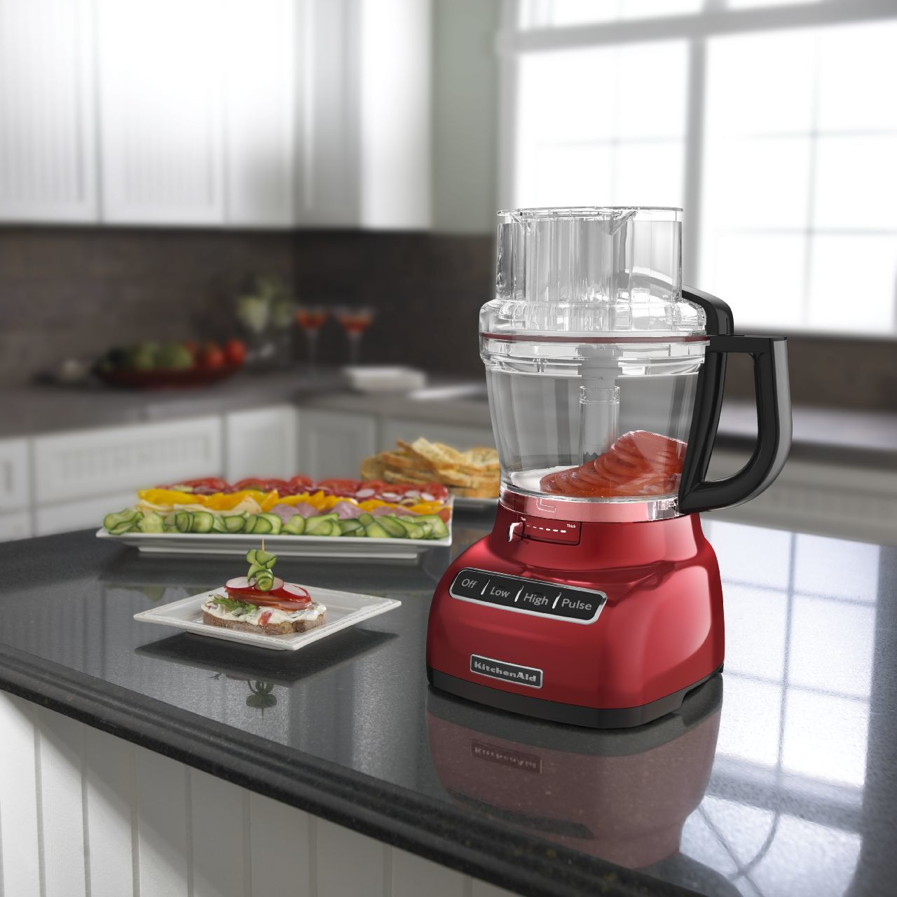 KitchenAid: 13 Cup Food Processor - Empire Red image