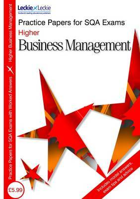 Higher Business Management Practice Papers for SQA Exams by Lee Coutts image