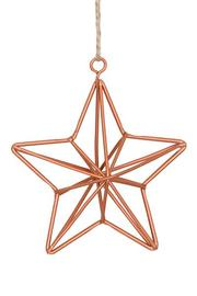Large Geometric Gold Star Hanging Decoration