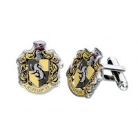 Harry Potter: Silver Plated Hufflepuff Cufflinks