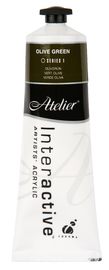 Atelier: Interactive Artists' Acrylic Paint - Olive Green (80ml)