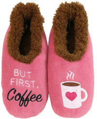 Slumbies But First Coffee Pairables Slippers (L)