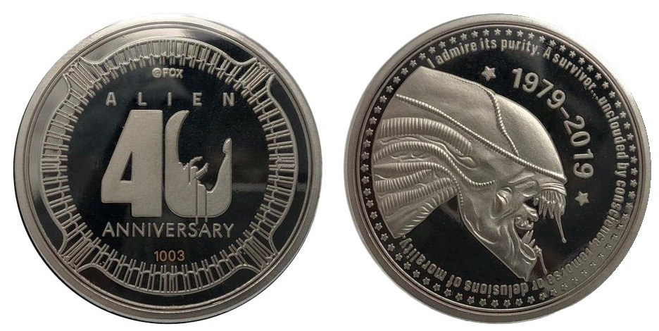 Alien: Collectable Coin - 40th Anniversary (Silver Tint) image