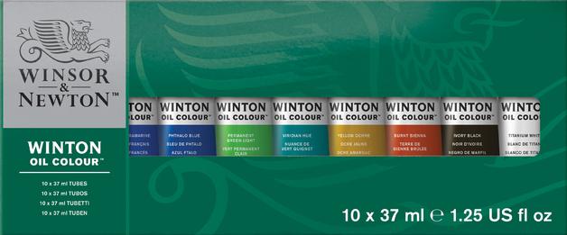 Winsor & Newton: Winton Oil Colour Set - 10 Set (21ml)