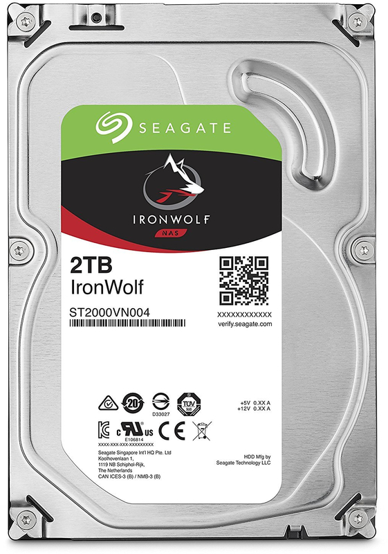 "2TB Seagate IronWolf 3.5"" 5900RPM SATA NAS HDD"