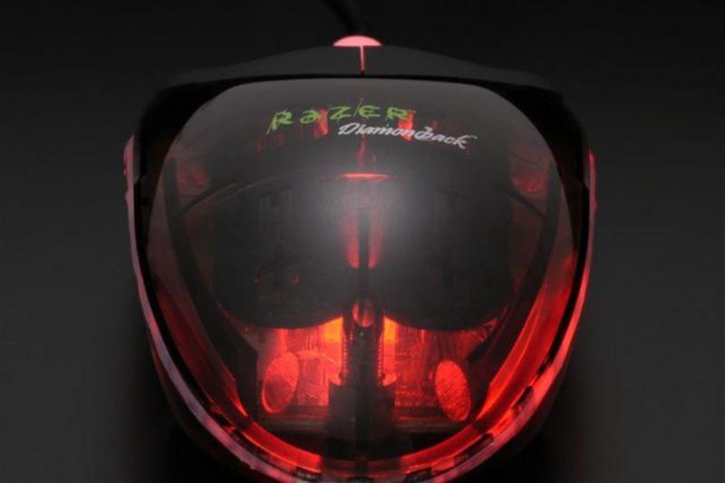 Razer Diamondback Salamander Red 1600 DPI Gaming Mouse image
