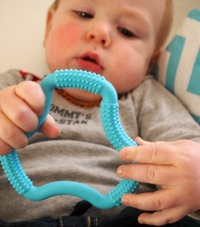 Dr Brown's Flexees A Shaped Teether (Blue) image