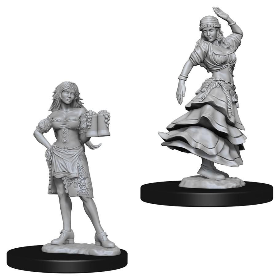 Pathfinder Deep Cuts: Unpainted Miniatures - Bartender/Dancing Girl image