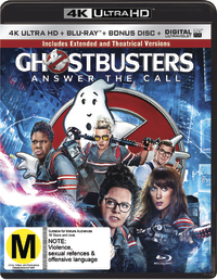Ghostbusters (2016) on Blu-ray, UHD Blu-ray, UV