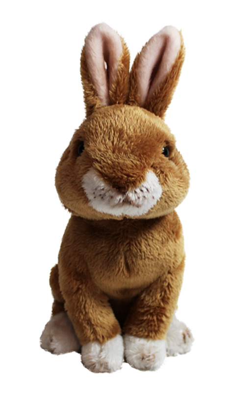 "Cuddly Critters: Brown Rabbit - 6"" Sitting Plush"