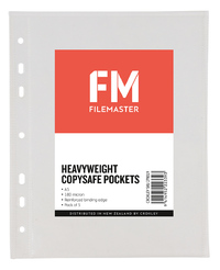 FM Heavy Duty Copysafe Pockets Punched A5 180 Micron Pack 5
