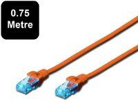 0.75m Digitus UTP Cat5e Network Cable - Orange