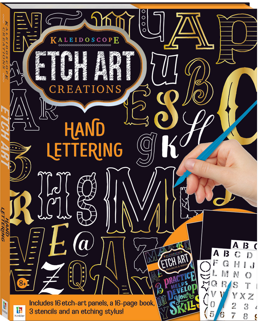 Kaleidoscope: Etch Art Creations - Hand Lettering image