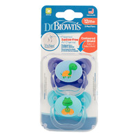 Dr Brown's PreVent Contoured Pacifier Stage 3 Blue - 12+ (2 Pack)