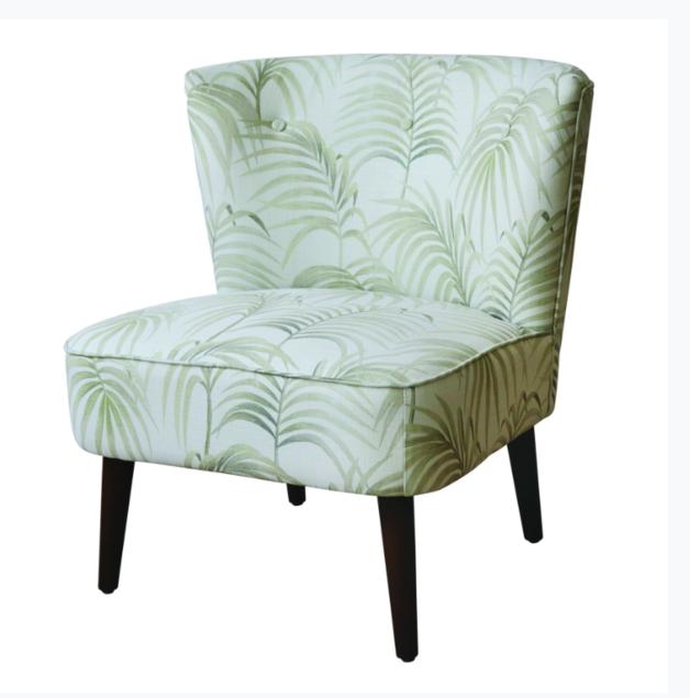 Madras Link: Palm Neutral Chair