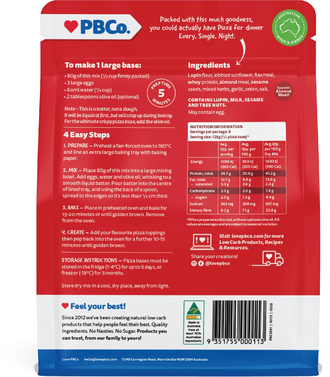 PBCo. Protein Pizza Base (320g) image