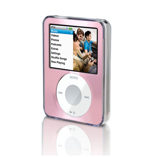 Belkin Clear Acrylic & Pink Brushed Metal Face for iPod nano 3G