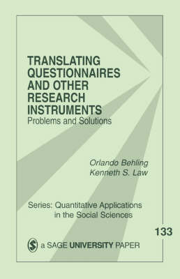 Translating Questionnaires and Other Research Instruments by Orlando Behling