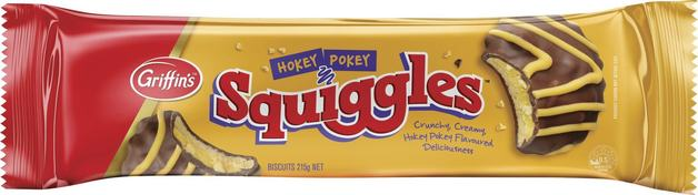 Griffin's Squiggles Hokey Pokey (215g x 25)