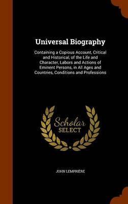 Universal Biography by John Lempriere