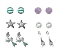 Neon Tuesday: The Little Mermaid - 6 Earring Set