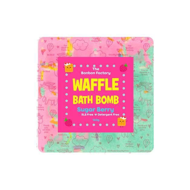 The Bonbon Factory Sugar Berry Waffle Bath Bomb