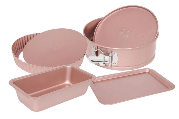 Wiltshire: Rose Gold 4 Piece Bakeware Set