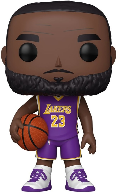 "NBA: LeBron James (Purple Jersey) - 10"" Super Sized Pop! Vinyl Figure"