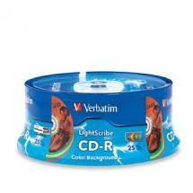 Verbatim CD-R 700MB 25Pk 5 Colour Lightscribe 52x image