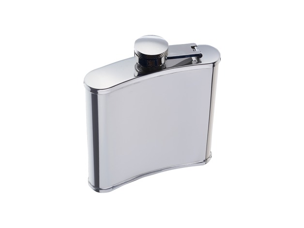 BarCraft: Hip Flask Stainless Steel - Gift Boxed (170ml)