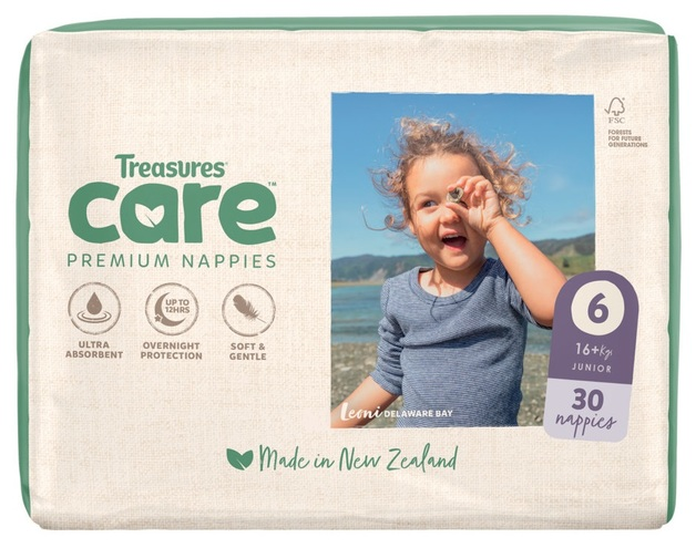 Treasures: Care - Unisex Nappies - 6: Junior (30-pk)