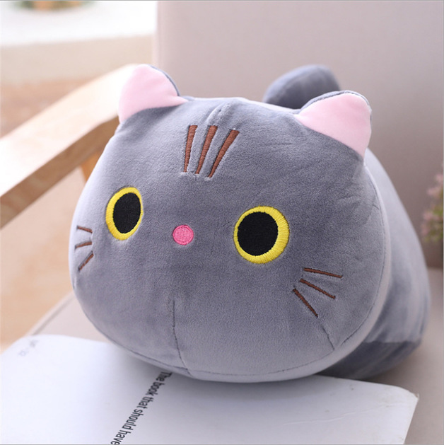 Gorilla: Chubby Cat Plush - Grey (35cm)