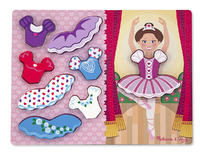 Melissa & Doug: Ballerina Dress-Up Chunky Puzzle 9 Pieces