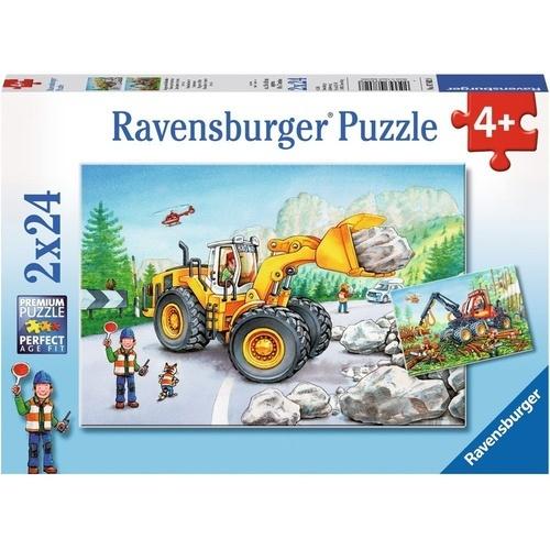 Ravensburger: Diggers At Work - 2x24pc Puzzle