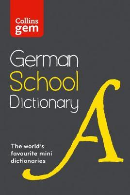 Collins German School Gem Dictionary by Collins Dictionaries image