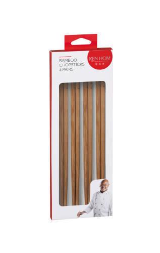 Ken Hom: Bamboo Chopsticks - 4 Pairs