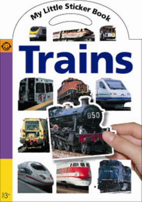 My Little Sticker Book Trains by Roger Priddy image