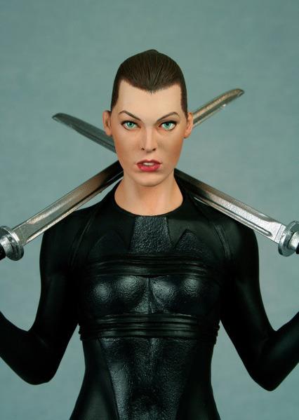Resident Evil Afterlife 1 6 Polystone Statue Ninja Alice At