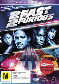 2 Fast 2 Furious UV on DVD