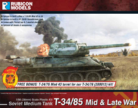 Rubicon 1/56 T34/85 Mid & Late War