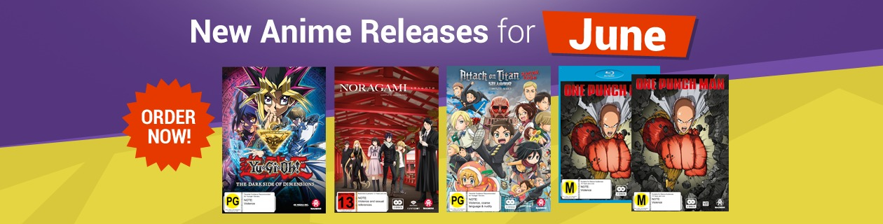 New Anime Releases for June!