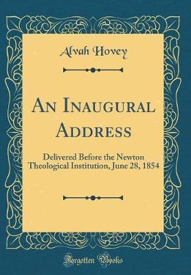 An Inaugural Address by Alvah Hovey image