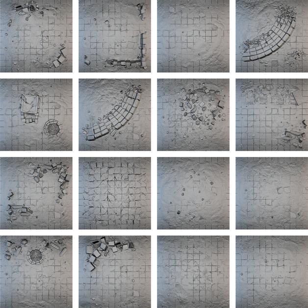 Tablescapes Tiles: Forgotten City (16 tile set)