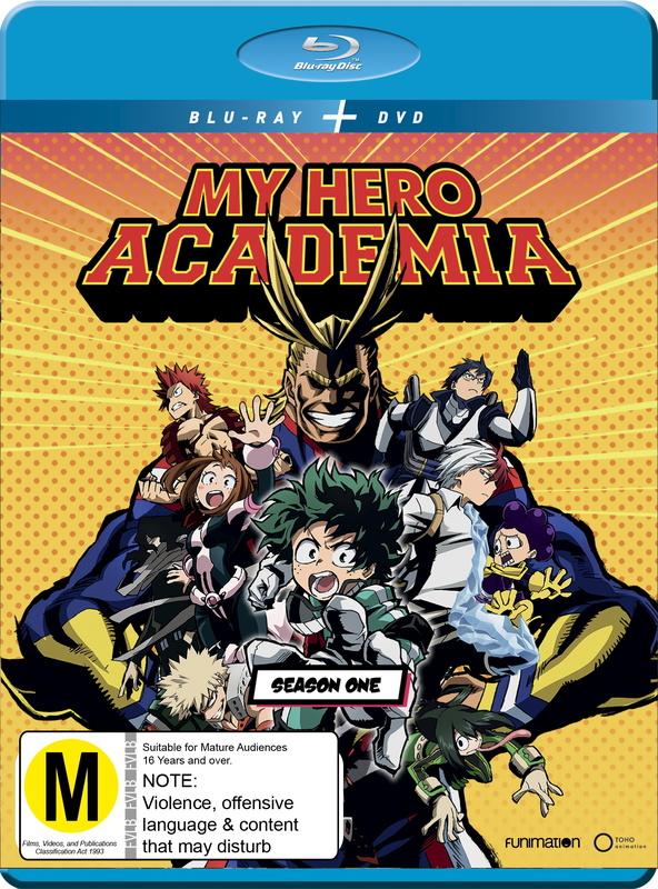 My Hero Academia Season 1 on DVD, Blu-ray