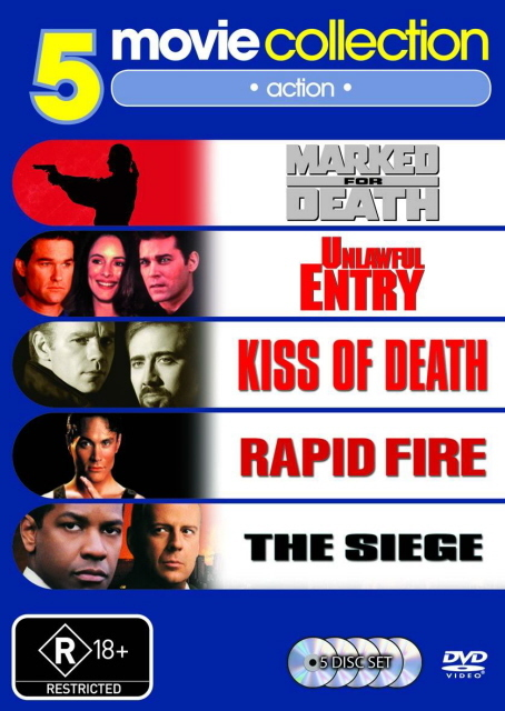 Marked for Death / Unlawful Entry / Kiss Of Death / Rapid Fire / The Siege (5 Disc Set) on DVD