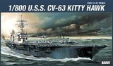 Academy USS CVN-63 Kitty Hawk 1/800 Model Kit